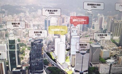 越秀中心将崛起超高建筑群 拟建198米越秀之心与120米住宅