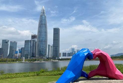 深圳湾超级总部基地首个超高层项目封顶!