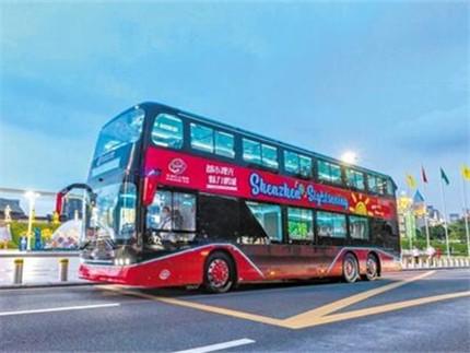 全景玩转深圳 升级版全景天窗式旅游观光巴士即日开通